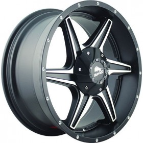 Диски BUFFALO BW-011 Satin-Black_Machined R20 5x150 ET38.0 9.0J DIA110.1