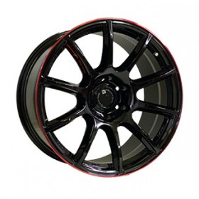 Диски Off Road Wheels OW1012 GLOSSY_BLACK_RED_LINE_RIVA_RED R20 6x139.7 ET10.0 8.5J DIA110.5
