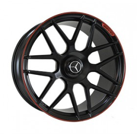 Диски Replica LegeArtis MR957 SATIN-BLACK--WITH-RED-STIP_FORGED R21 5x130 ET33.0 10.0J DIA84.1