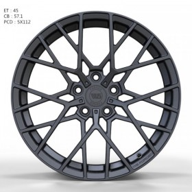 Диски WS FORGED WS1244 MATTE_GUNMETALL_FORGED R18 5x112 ET45.0 8.0J DIA57.1