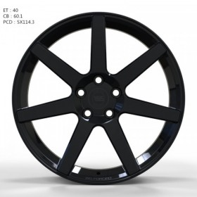 Диски WS FORGED WS1245 Gloss_Black_FORGED R19 5x114.3 ET40.0 8.0J DIA60.1