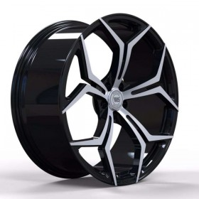 Диски WS FORGED WS428B GLOSS_BLACK_WITH_MACHINED_FACE_FORGED R22 5x112 ET43.0 10.5J DIA66.5